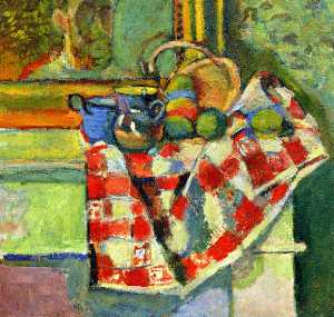 Still Life with a Checked Tablecloth