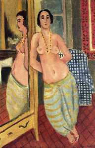 Standing Odalisque Reflected in a Mirror