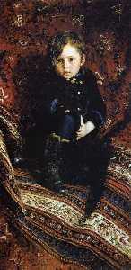 Portrait of Yuriy Repin, the Artist's son