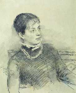 Portrait of a young wife, sitting on the couch