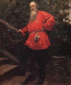 美術評論家のウラジーミルスターソフの肖像