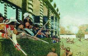 Emperor Alexander I and Emperor Napoleon in the hunt