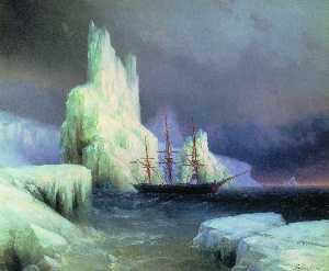 Icebergs in the Atlantic