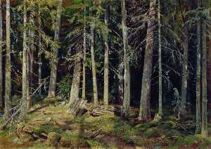 Forest. Mounds