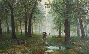 Rain in the Oak Forest