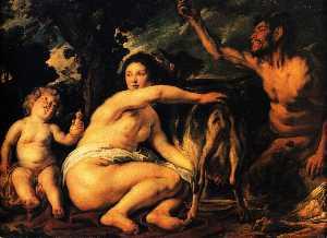 Infant Jupiter Fed by the Goat Amalthea