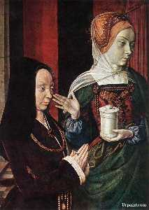 Madeleine of Bourgogne presented by St. Mary Magdalene