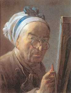 Self-Portrait with an Easel