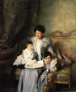Mrs Knowles and her Children
