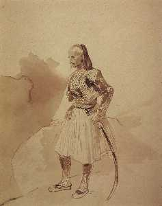 Portrait of a Greek insurgent Theodore Kolokotroni