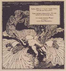 アイリス。アルノホルツの詩にイラスト。
