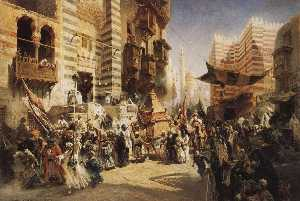 The handing over of the Sacred Carpet in Cairo
