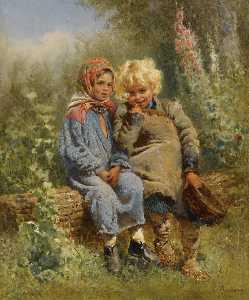 Peasant Children at rest