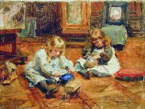 Children playing in the Workshop
