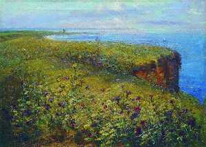 Landscape (Sea and Flowers)