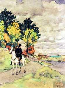Pushkin on horseback