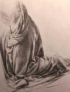Drawing of drapery