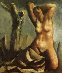 Nude with tree