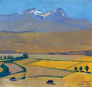Mount Aragats at summer