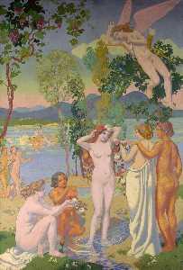 Pannello 1 . Eros è Colpito da Psyche's Belezza