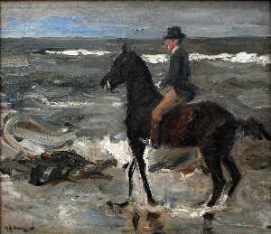 Rider on the Beach