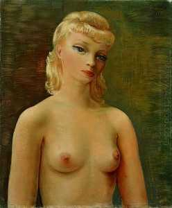 Bust of blonde girl