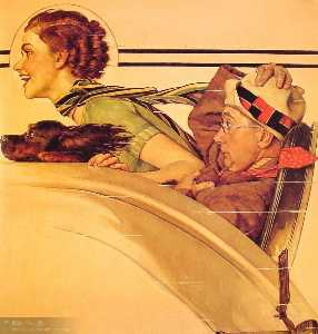 Couple in Rumble Seat
