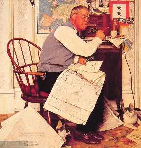 Man Charting WManeuvers