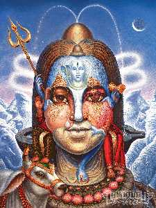 Woman and Mountains Shiva