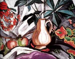 Still Life with Peatcher and Apples