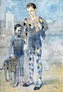 Два акробаты с     собачье