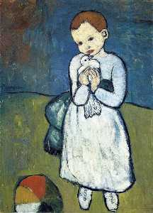 Child with dove