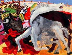 Corrida , la muerte de el torero