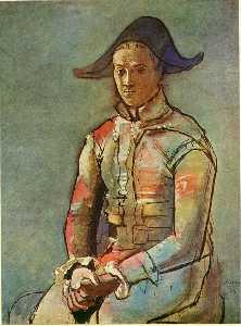 Seated harlequin (Jacinto Salvado)