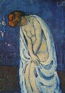 Woman leaving the bath