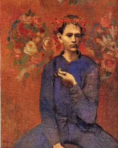 A boy with pipe