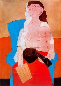 Woman with mandolin
