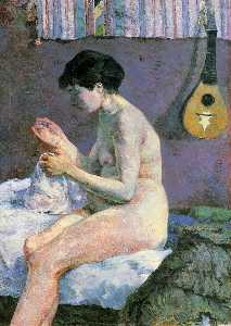 Suzanne Sewing - Study of a Nude
