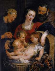 The Holy Family with St. Elizabeth