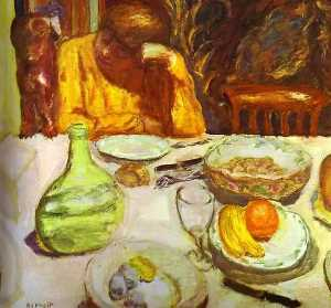 Carafe, Marthe Bonnard with Her Dog