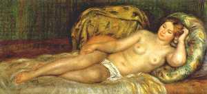 Nude reclining on cushions