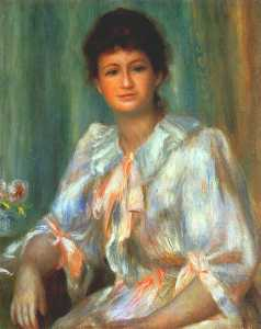 retrato de un mujer joven para  Blanco