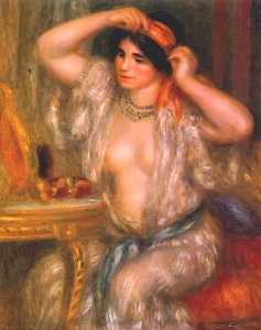 Gabrielle at the mirror