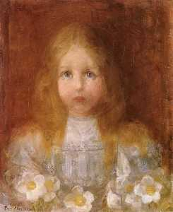 Portrait of a Girl with Flowers