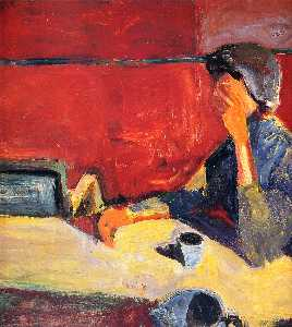 Woman at Table in Strong Light
