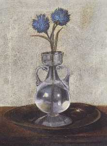 The Vase of Cornflowers