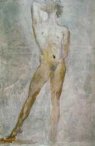 Study of a Male Nude - Saint Sebastian