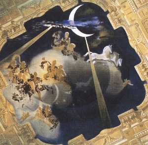 Ceiling of the Hall of Gala's Chateau at Pubol