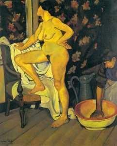 Femme a la Toilette