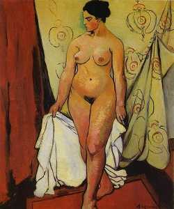 Nude Woman with Drapery